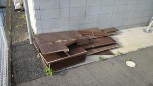 高松市で机1点回収のビフォー写真