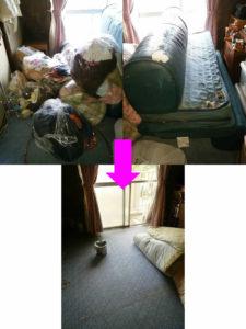 綾歌郡宇多津町でソファベッド、細々したゴミ回収写真2