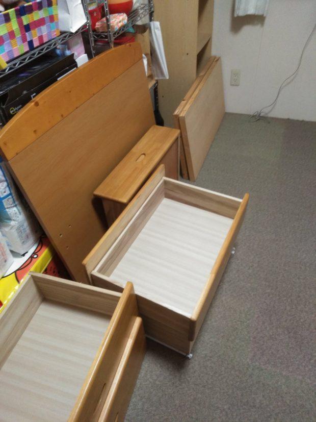 【高松市仏生山町】ベッド枠の回収☆急なご依頼にもご希望の日程で対応でき、ご満足いただけました!
