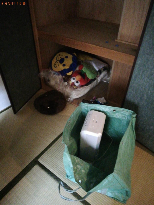 【高松市】エアコン、布ゴミ、ハンガー掛け、本棚の回収・処分ご依頼