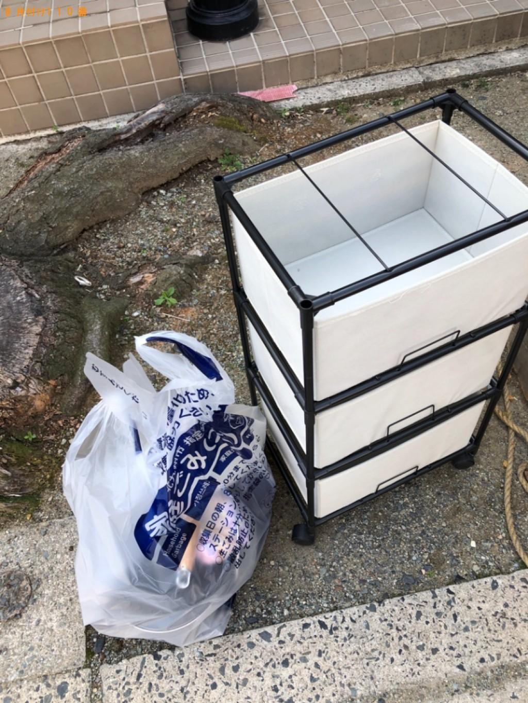 【高松市】扇風機、クッション、調理器具、一般ごみ、ラックの回収